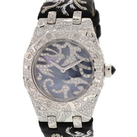 Audemars Piguet Royal Oak Lady 7607BC.ZZ.D001SU.01 Oak Leaves Collection 18K White Gold 33mm Watch