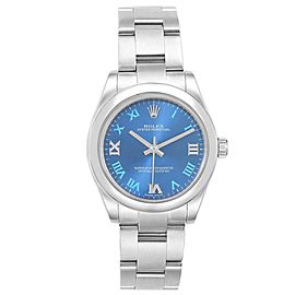 Rolex Oyster Perpetual Midsize 31 Blue Dial Ladies Watch 177200