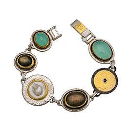 Gurhan Galapagos 24K Yellow Gold and Sterling Silver Bracelet