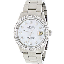 Rolex Datejust Stainless Steel & White Mother of Pearl Dial 36mm Unisex Watch