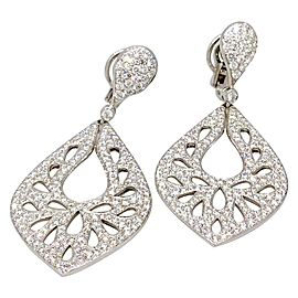 Crivelli 18K White Gold 5.54ctw Diamond Cutout Earrings