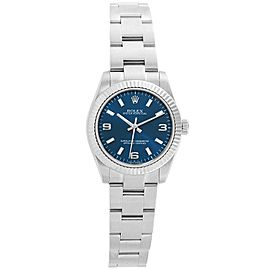 Rolex Oyster Perpetual Midsize 31 Blue Dial Steel Ladies Watch 177234