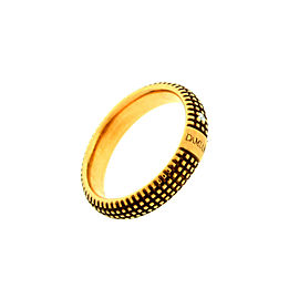 Damiani 18K Yellow Gold Metropolitan Dream 0.02ct. Diamond Band Ring Size 7