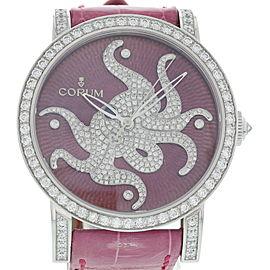Corum Classical 982.202.69 18K White Gold & Diamonds 42mm Womens Watch
