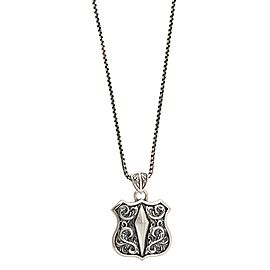 Stephen Webster 925 Sterling Silver Highwaymanman Shield Pendant Necklace