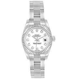 Rolex Datejust Steel White Gold Diamond Ladies Watch 179174