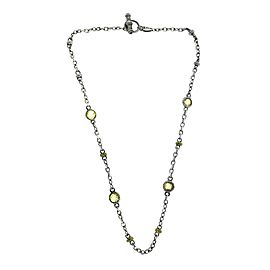 Judith Ripka 18K Yellow Gold and 925 Sterling Silver Yellow Crystal Necklace