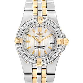Breitling Starliner Steel Yellow Gold MOP Diamond Ladies Watch B71340