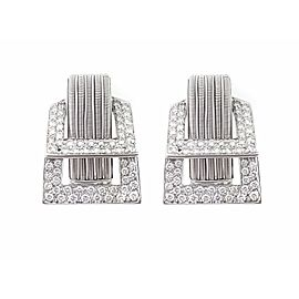 18K White Gold 2.48ctw Diamond Earrings