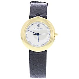 Chaumet Paris 14A-407 18K Yellow Gold & Leather Quartz 30mm Womens Watch