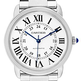 Cartier Ronde Solo XL Automatic Steel Mens Watch W6701011 Box Papers