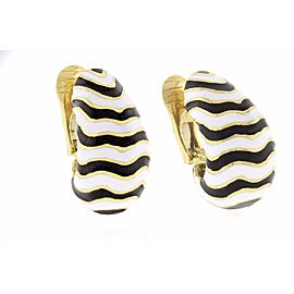 David Webb Kingdom Collection 18K Yellow Gold Earrings
