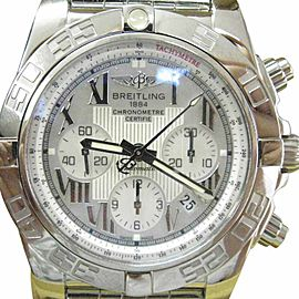 Breitling Chronograph AD011012/A691 Stainless Steel & Mother of Pearl Dial 44mm Mens Watch