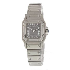 Cartier Santos 1565 Stainless Steel Quartz Grey Dial 24mm Womens Watch