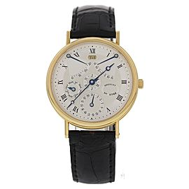 Breguet 3477ba/1e/986 18K Yellow Gold & Leather Automatic 36mm Mens Watch