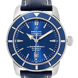 Breitling Superocean Heritage 46 Blue Dial Leather Strap Watch A17320