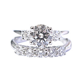 Scott Kay 950 Platinum and 1.45ct Diamond Engagement Ring Size 5