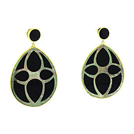Ippolita 18K Yellow Gold with Onyx Rock Candy Teardrop Earrings