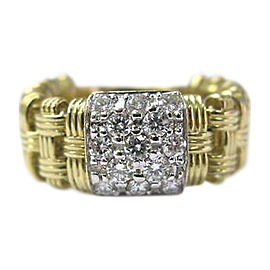 Roberto Coin 18K Yellow Gold 0.58ct Diamond Ring Size 6