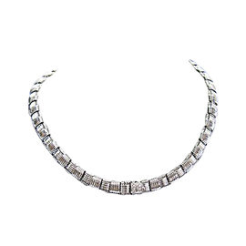 Roberto Coin 18K White Gold with Diamond and Ruby Necklace