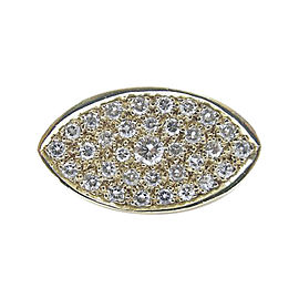 14K Yellow Gold 1.25ct Diamond Ring Size 11