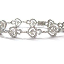 White Gold Diamond Womens Bracelet