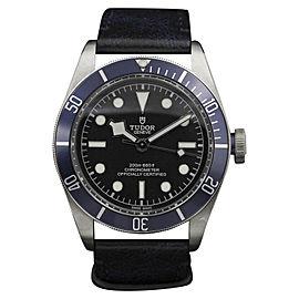 Tudor 7923 Black Bay Stainless Steel Blue Strap 41mm Mens Watch