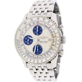 Breitling Navitimer Fighters A13330 Stainless Steel Cream Dial Automatic 42mm Mens Watch