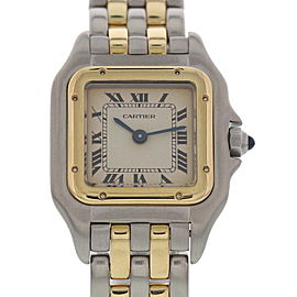 Cartier Panthere 1057917C 18K Yellow Gold / Stainless Steel 22mm Womens Watch