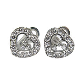Chopard Happy Diamond 18K White Gold Earrings