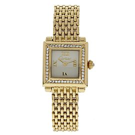 Cartier Parsifal 18K Yellow Gold & Diamond 20mm Womens Watch