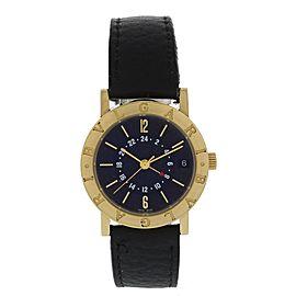 Bulgari BB 33 GL GMT 18K Yellow Gold Automatic 33mm Unisex Watch