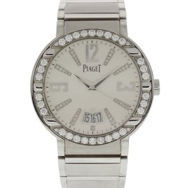 Piaget Polo P10183 18K White Gold & Diamond Automatic 38mm Womens Watch