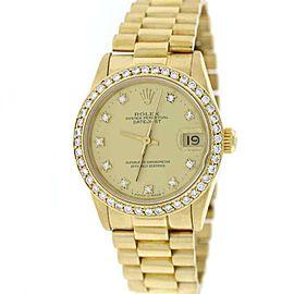 Rolex President Datejust 68278 18K Yellow Gold with Diamond Automatic 31mm Unisex Watch