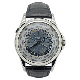 Patek Philippe World Time 5130P-001 Platinum Mens 39.5mm Watch