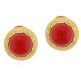 Buccellati 18K Pink & Yellow Gold with Coral Earrings