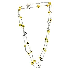 Tiffany & Co. 18K White & Yellow Gold Heart Link Necklace
