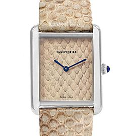 Cartier Tank Solo Python Pattern Steel Ladies Watch W5200020