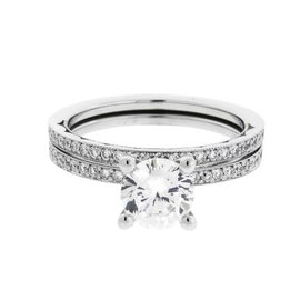 Tacori Sculpted Crescent Platinum 1ct Diamond Ring Size 6.5