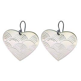 Bulgari Enigma Sterling Silver Heart Earrings