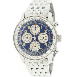 Breitling Navitimer Airborne A33030 Stainless Steel & Blue Dial 38mm Unisex Watch