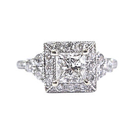Neil Lane 14K White Gold with Diamond Engagement Ring Size 4.5