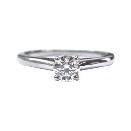Cartier Platinum 0.44ct Diamond Solitaire Ring Size 6.5