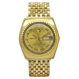 Rado Purple Sabre Gold Plated Automatic Vintage 36mm Mens Watch