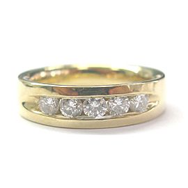 14K Yellow Gold with Diamond Band Ring Size 9.5