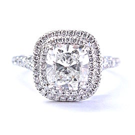 Tiffany & Co. Platinum with 2.46ct Diamond Ring Size 7.25