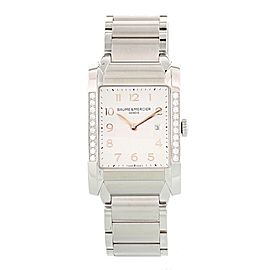 Baume & Mercier Hampton MOA10023 Stainless Steel with Diamonds Quartz 27mm Womens Watch