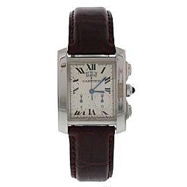 Cartier Tank Francaise 2653 Stainless Steel & Leather Quartz 29mm Unisex Watch