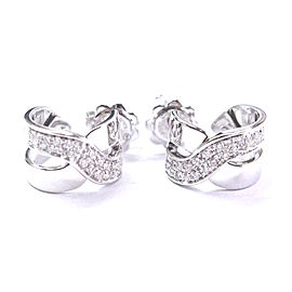 Damiani 18K White Gold with 0.24ct Diamond Push Back X Earrings