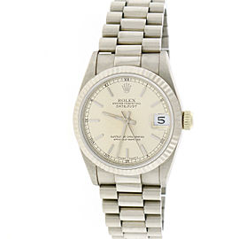 Rolex President Datejust 68279 White Gold Stick Dial 31mm Unisex Watch